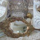 Vintage Rusty Crusty Old French Style Cherub Angel Hand Mirror
