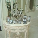EXQUISITE SHABBY ORNATE FRENCH STYLE TABLE WITH GARLANDS & SWAGS *LOCAL PICKUP*