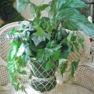 LARGE OLD WORLD STYLE FAUX PLANTS IN A METAL URN #1 ***FABULOUS***