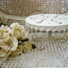 SHABBY FRENCH CHIC PRETTY LARGE CAKE PLATE DISPLAY STAND ***SO PRETTY***