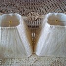 SET OF TWO SCROLLY DESIGN CHIC LAMP SHADES ***SO PRETTY***