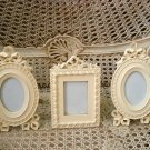 3 SHABBY FRENCH CHIC BOW PICTURE FRAMES ***SO PRETTY****