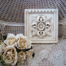 #2 SHABBY FRENCH CHIC PAINTED SQUARE FLOWER WALL PLAQUE ***AWESOME***