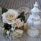 SHABBY PAINTED SCROLLY FRENCH STYLE FINIAL DECOR ***PRETTY***