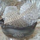 Shabby Ornate Vintage Monogrammed Silverplate Bowl SO SHABBY