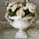 FABULOUS LARGE ORNATE SHABBY PAINTED URN WALL HANGING ***ADD FLOWERS***