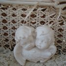 Beautiful White Vintage Angel Cherub Ornament **SO CUTE**
