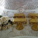 SET OF 4 CHARMING GOLD COLUMN DISPLAY PEDESTALS ***SO PRETTY***
