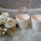 SET OF TWO CERAMIC FLOWER POTS ***SIMPLY CHIC***