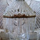 THE BEST OLD FRENCH BEADED DOME SQUARE LAMP SHADE ****RARE**** EXQUISITE