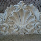 SHABBY FRENCH ORNATE PEDIMENT ARCHITECTURAL HEADER *HANG OVER A MIRROR OR DOOR*