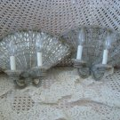 THE BEST OLD ITALIAN BEADED SCONCES MIRRORED FAN SHAPED ****RARE**** EXQUISITE