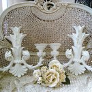 THE BEST SHABBY FRENCH ORNATE LARGE WALL CANDLE HOLDERS ***GORGEOUS***