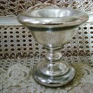 SHABBY REPRODUCTION MERCURY GLASS SMALL COMPOTE BOWL **SO PRETTY**