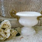 AWESOME SHABBY FRENCH ORNATE PAINTED URN WITH HANDLES