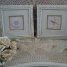 SET #2 OF 2 SHABBY FRAMED FLOWER PICTURES WALL ART ***SO CHIC***