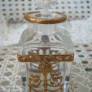 GORGEOUS ANTIQUE FRENCH PERFUME BOTTLE WITH SWAGS & GARLANDS FROM FRANCE