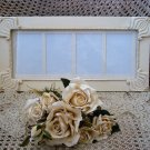 "#3 SHABBY FRENCH CHIC PICTURE FRAME HOLDS FOUR 4"" x 6"" PICTURES ****SO PRETTY***"