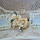 SHABBY SET OF TWO ORNATE PAINTED PICTURE FRAMES ****SO CHIC****