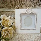 SHABBY FRENCH CHIC CHARMING BOW RIBBON PICTURE FRAME ****SO PRETTY***