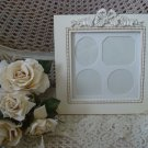 SHABBY FRENCH CHIC SQUARE ORNATE BOW PICTURE FRAME ***SO PRETTY***
