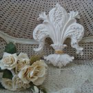 SHABBY FRENCH ORNATE LARGE FLEUR DE LIS PAINTED HANGING PLAQUE ***GORGEOUS***