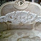 SHABBY FRENCH COUNTRY SHELL WALL PLAQUE **GREAT OVER A DOORWAY OR MIRROR**