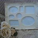 ELEGANT FRENCH ORNATE PICTURE FRAME HOLDS 7 MINI PICTURES ***SO CHIC***