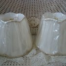 SET OF TWO BEAUTIFUL LAMP SHADES ***SO PRETTY***