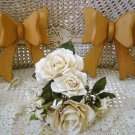 FRENCH CHIC SET OF 2  OLD WOODEN BOWS  ***SO PRETTY***