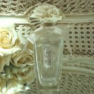 Pretty Vintage Perfume Bottle with Porcelain Roses Stopper #4