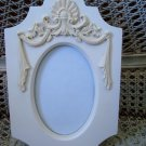 "SHABBY FRENCH CHIC UNIQUE SHAPE 4"" by 6"" PICTURE FRAME ****SO PRETTY***"
