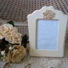 """SHABBY FRENCH ROSES  5"""" x 7"""" PICTURE FRAME ****SO PRETTY****"""