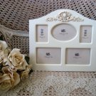 SHABBY FRENCH MEDALLION PICTURE FRAME FOR 5 MINI PICTURES ****SO CHARMING***