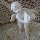 Beautiful White Vintage Angel Cherub Figurine Standing **SO CUTE**