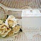 SHABBY FRENCH ORNATE PRETTY LARGE TRINKET BOX ***SO PRETTY***