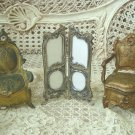 Louis XV Style French Dressing Screen Miniature Picture Frame Great for Dolls