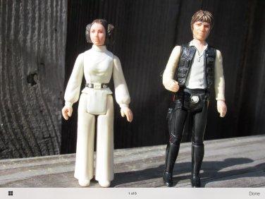 Princess Lea and hans solo figures