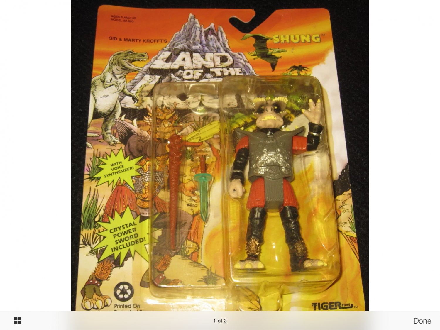 1992 Land of the Lost Shung Action Figure Tiger Toys RARE NEW IN PACK