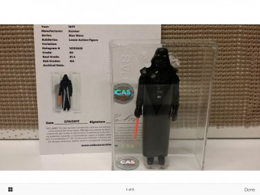 Vintage rare grade 80 Darth Vader w/certificate