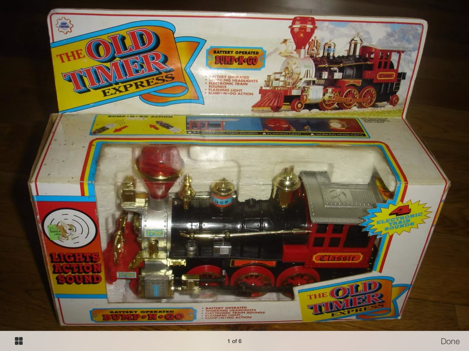 Vintage old timers express toy train.  NIB