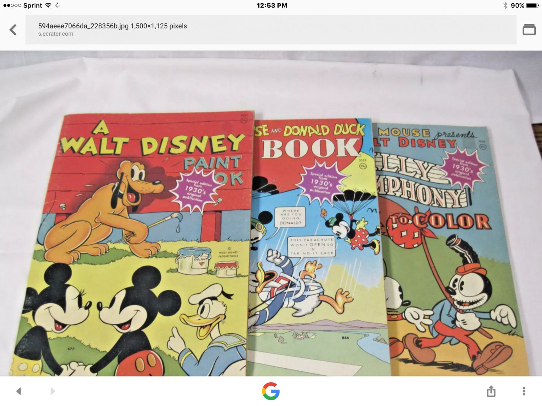 1930s vintage Disney comic books