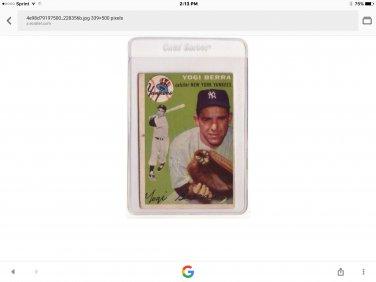 Yogi bera baseball card