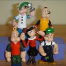 popeye the sailor figures.  5 pc