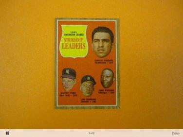 1962 topps strikeout leaders baseball card