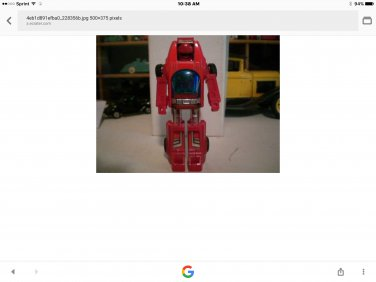 Transformer robot. Turns into car