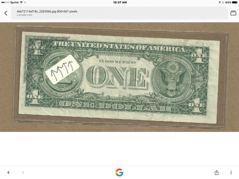 $1 ghosting error.  1974 Philadelphia