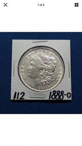 1888-O Morgan Silver Dollar $1 Coin Genuine High Grade Rare Date #K112
