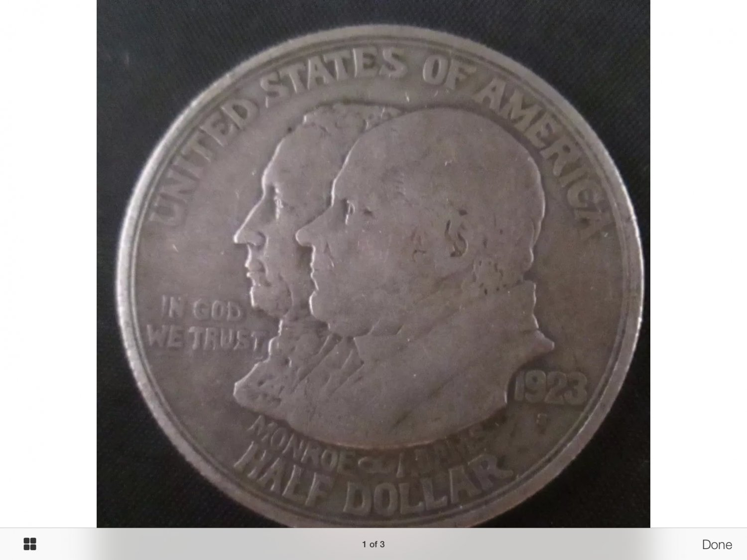 1923-S MONROE SILVER HALF DOLLAR - RARE COIN AND IN GREAT CONDITION