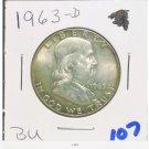 1963 d proof franklin half dollar
